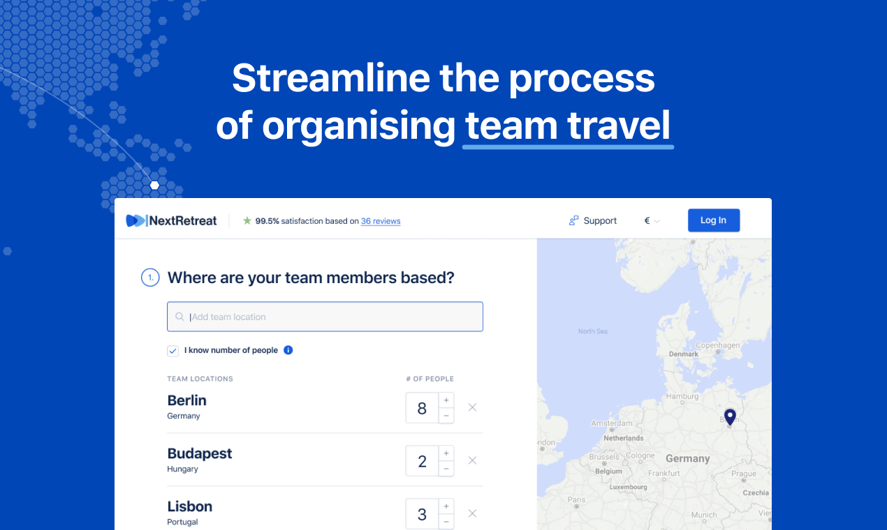 NextRetreat was designed exclusively for teams,